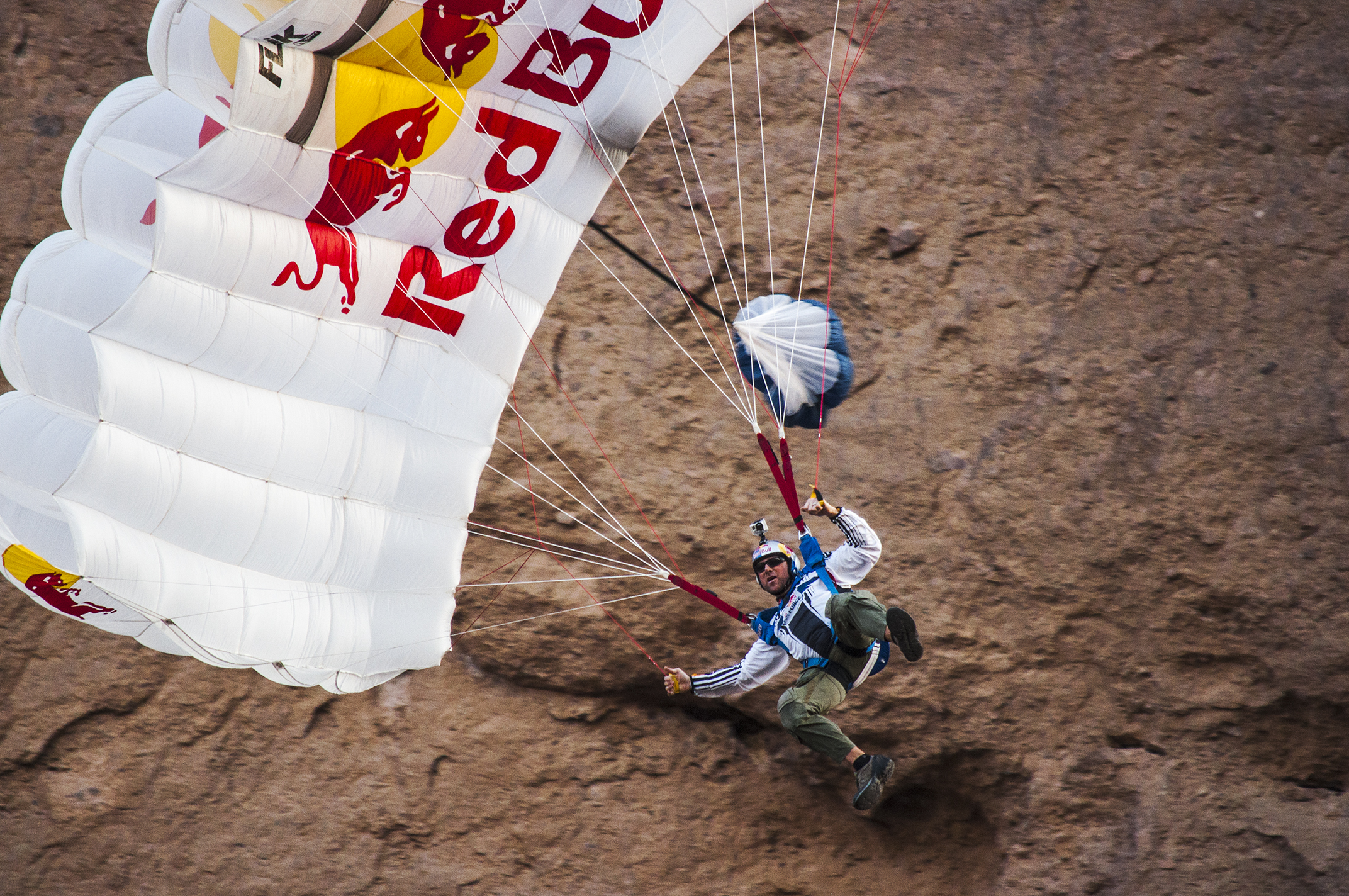 Miles Daisher BASE jumping off Camelback